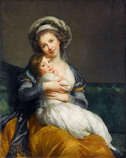 Elisabeth Vifée-Lebrun - Autoportrait avec sa fille 1786