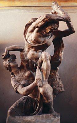 Properzia de'Rossi - Amazone aux prises d'Hercule
