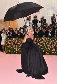 "Singer/actress Lady Gaga arrives for the 2019 Met Gala at the Metropolitan Museum of Art on May 6, 2019, in New York. - The Gala raises money for the Metropolitan Museum of Art's Costume Institute. The Gala's 2019 theme is ""Camp: Notes on Fashion"" inspired by Susan Sontag's 1964 essay ""Notes on Camp"". (Photo by ANGELA WEISS / AFP)"
