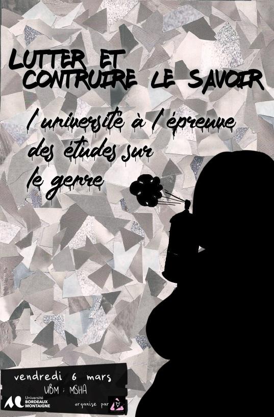 20.03.06 - Lutter et construire le savoir - Bordeaux - affiche