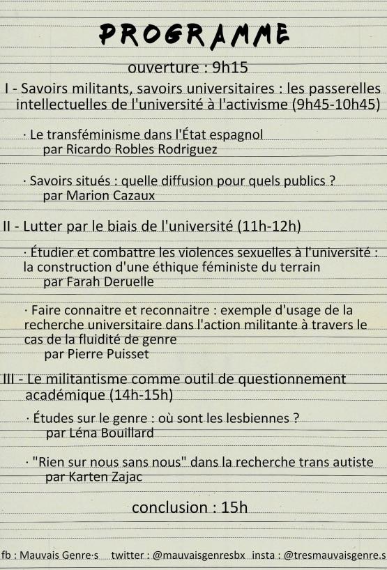 20.03.06 - Lutter et construire le savoir - Bordeaux - programme